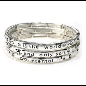 New Inspirational Religious Engraved Bracelet